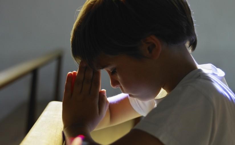 Христианская сценка о молитве