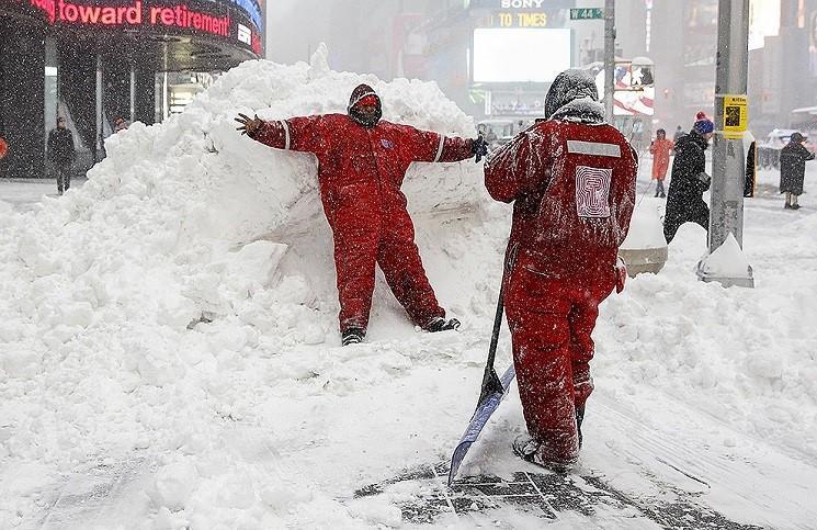 Снежная буря в США стала причиной благовестия.